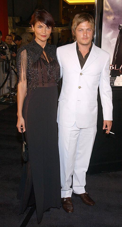 """Norman Reedus and Helena Christensen attend the premiere of the film """"Blade 2"""" March 21, 2002 at the Chinese Theatre in Hollywood, CA."""