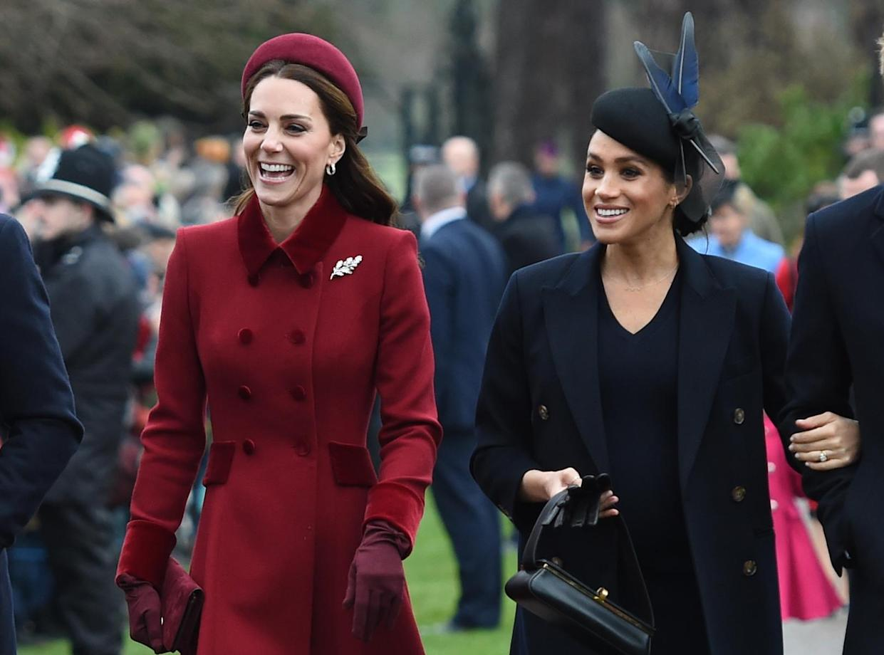 Kate and Meghan in Sandringham on Christmas Day [Photo: PA]