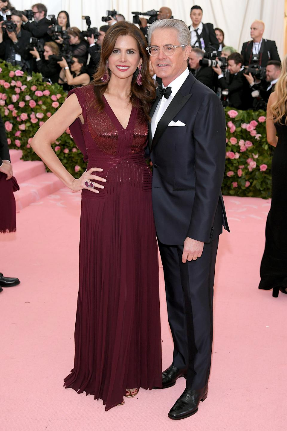 """<h1 class=""""title"""">Desiree Gruber in Zac Posen and Kyle MacLachlan</h1><cite class=""""credit"""">Photo: Getty Images</cite>"""