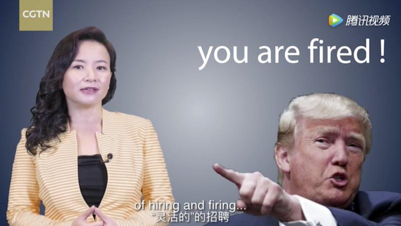 Video mocking Donald Trump pulled by Chinese state media ... just hours before trade talks