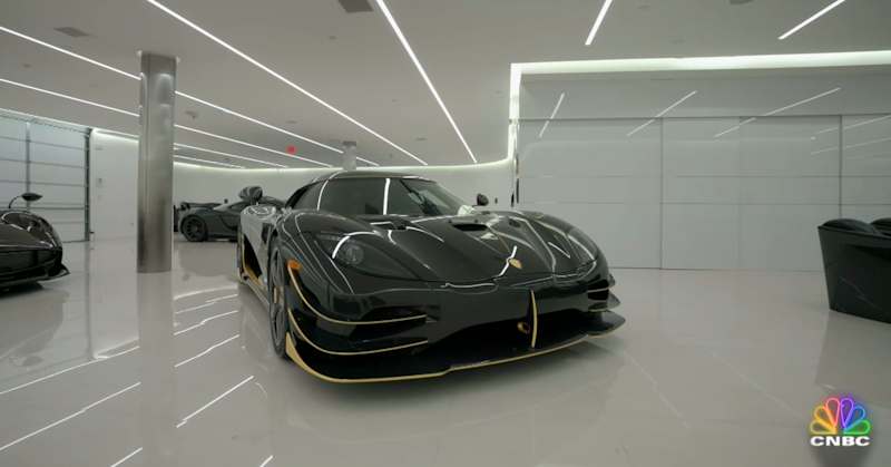 Khoshbin's Agera RS Phoenix inside showroom