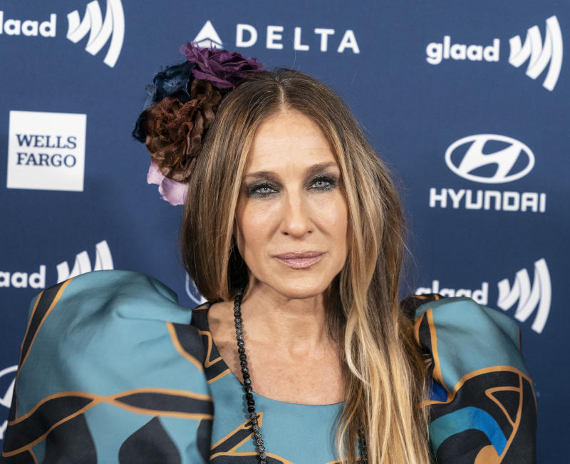 HILTON MIDTOWN, NEW YORK, UNITED STATES - 2019/05/04: Sarah Jessica Parker wearing dress by Elie Saab attends the 30th Annual GLAAD Media Awards at New York Hilton Midtown. (Photo by Lev Radin/Pacific Press/LightRocket via Getty Images)