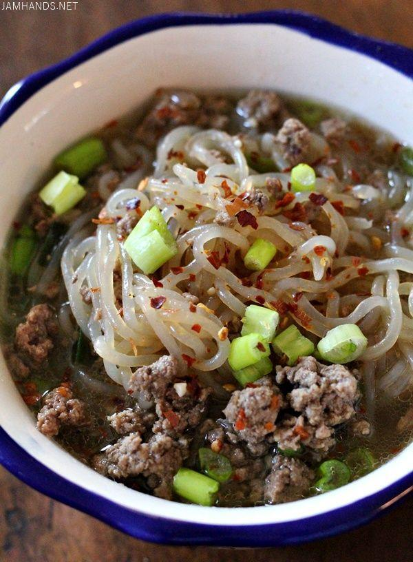 """<p>Skip the white cup—this is healthier.</p><p>Get the recipe from <a href=""""http://www.jamhands.net/2016/06/spicy-beef-ramen-ketolow-carb.html?m=1"""" rel=""""nofollow noopener"""" target=""""_blank"""" data-ylk=""""slk:Jam Hands"""" class=""""link rapid-noclick-resp"""">Jam Hands</a>.</p>"""