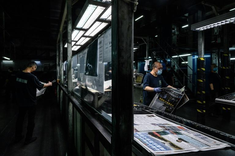 The arrests of five newspaper executives was the first time articles published in Hong Kong have sparked detentions under a new security law