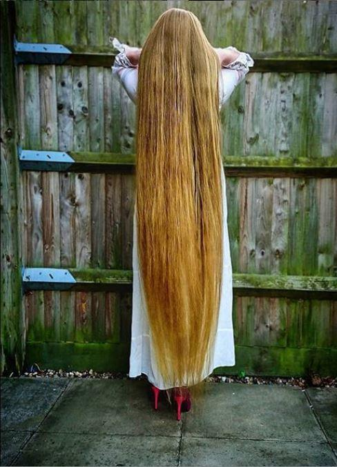 Malgorzata Kulczyk hasn't cut her hair for over five years. (Caters)