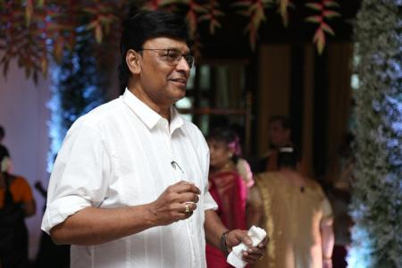 Filmmaker K Bhagyaraj was also spotted at the wedding
