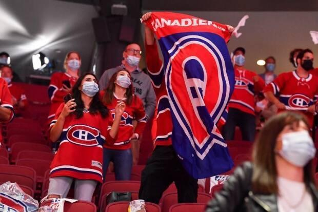 Only 2,500 fans are allowed in the Bell Centre due to the pandemic, but the crowds have been loud and enthusiastic nonetheless.  (Minas Panagiotakis/Getty Images - image credit)