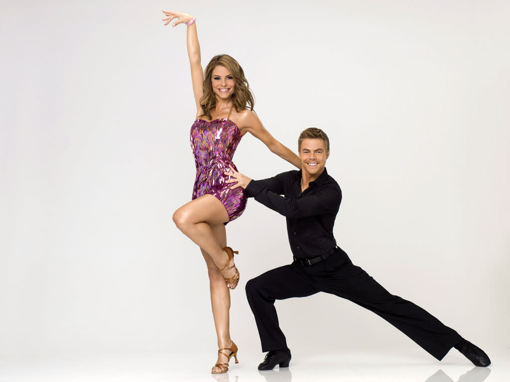 "Maria Menounos teams with professional dancer Derek Hough on Season 14 of ""<a href=""http://tv.yahoo.com/dancing-with-the-stars/show/38356"">Dancing With the Stars</a>."""