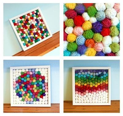 "<div class=""caption-credit""> Photo by: Easy Makes Me Happy</div><b>Framed Yarn Scraps</b> <br> I have tons of yarn scraps - which would look lovely in a shadowbox, display just like this. Kids will love this colorful project! <br> <i><a href=""http://easymakesmehappy.blogspot.com/2010/04/what-to-do-with-our-yarn-scraps-idea-1.html"" rel=""nofollow noopener"" target=""_blank"" data-ylk=""slk:Get the tutorial"" class=""link rapid-noclick-resp"">Get the tutorial</a></i> <br> <b>More on Babble</b> <br> <a href=""http://www.babble.com/toddler-times/2012/08/17/20-awesome-home-decor-ideas-using-chalkboard-paint/?cmp=ELP