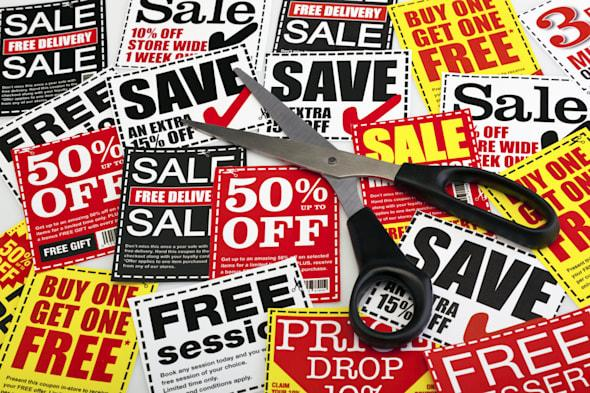 Money saving coupons without any dollar, euro or pound signs. Coupons created by photographer.