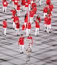 <p>Canada made a statement with bright red athletic jackets, which shined on TV.</p>