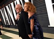 Diane von Furstenberg proposed to Barry Diller after she said no to him numerous times in the past. The designer said in an interview with Oprah that she didn't know what to get him for his birthday so she decided to propose instead. (Getty Images)