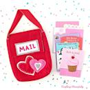 """<p>This sweet mail bag is just the thing for carrying and collecting all your Valentines. Best of all, it can be used year after year.</p><p><strong>Get the tutorial at</strong> <a href=""""https://www.craftingcheerfully.com/felt-valentines-day-mailbox/"""" rel=""""nofollow noopener"""" target=""""_blank"""" data-ylk=""""slk:Crafting Cheerfully."""" class=""""link rapid-noclick-resp""""><strong>Crafting Cheerfully. </strong></a></p><p><a class=""""link rapid-noclick-resp"""" href=""""https://www.amazon.com/s?k=acrylic+felt&tag=syn-yahoo-20&ascsubtag=%5Bartid%7C2164.g.35119968%5Bsrc%7Cyahoo-us"""" rel=""""nofollow noopener"""" target=""""_blank"""" data-ylk=""""slk:SHOP FELT"""">SHOP FELT</a></p>"""
