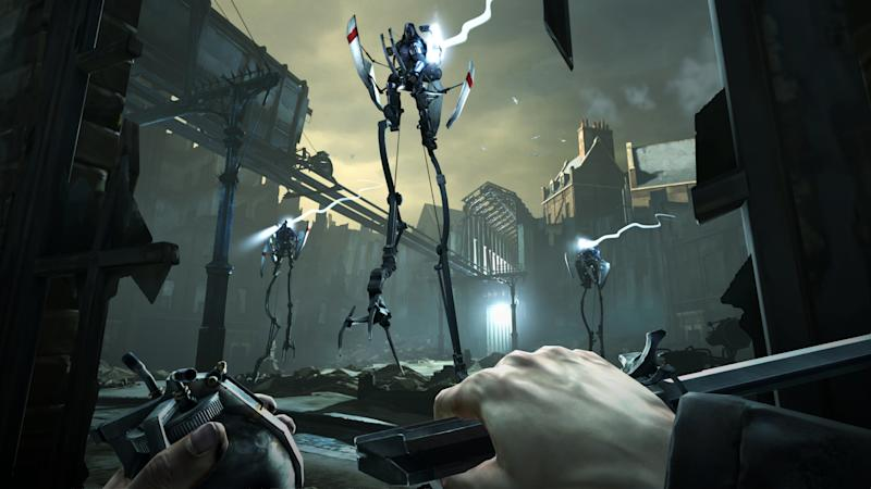 "FILE - This video game image released by Bethesda Softworks shows a scene from ""Dishonored."" The stealthy revenge drama ""Dishonored,"" artsy puzzler ""Journey,"" sci-fi sequel ""Mass Effect 3,"" zombie survival saga ""The Walking Dead: The Game"" and old-school strategy title ""XCOM: Enemy Unknown"" are up for the game of the year trophy at the 13th annual Game Developers Choice Awards on Wednesday, March 27, 2013. (AP Photo/Bethesda Softworks, File)"