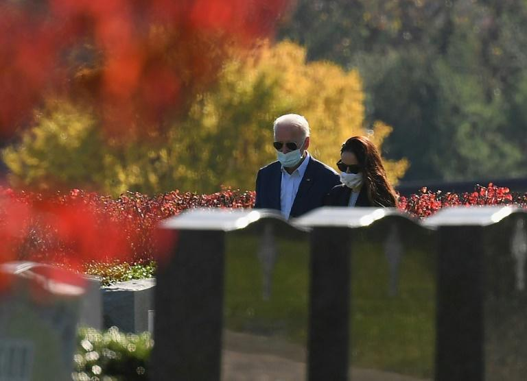 President-elect Joe Biden and his daughter Ashley Biden after visiting their family grave site in Wilmington, Delaware