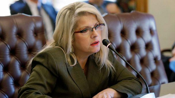 PHOTO: In this Jan. 28, 2015, file photo, Sen. Linda Collins-Smith speaks at the Arkansas state Capitol in Little Rock, Ark. (Danny Johnston/AP, FILE)