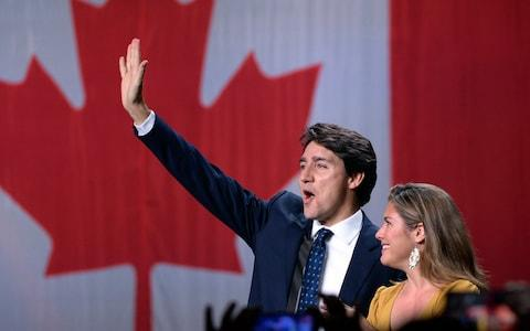 Mr Trudeau delivered unexpectedly strong results despite having been weakened by a series of scandals - Credit: Canadian Press