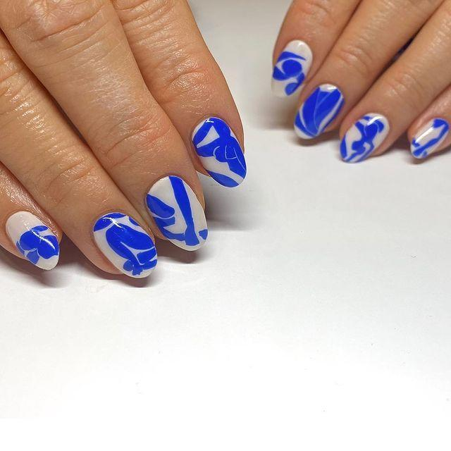"<p>Nail art takes on a whole new meaning with 10 miniature versions of Matisse's Blue Nude.</p><p><a href=""https://www.instagram.com/p/CIzTjQzFb0A/"" rel=""nofollow noopener"" target=""_blank"" data-ylk=""slk:See the original post on Instagram"" class=""link rapid-noclick-resp"">See the original post on Instagram</a></p>"
