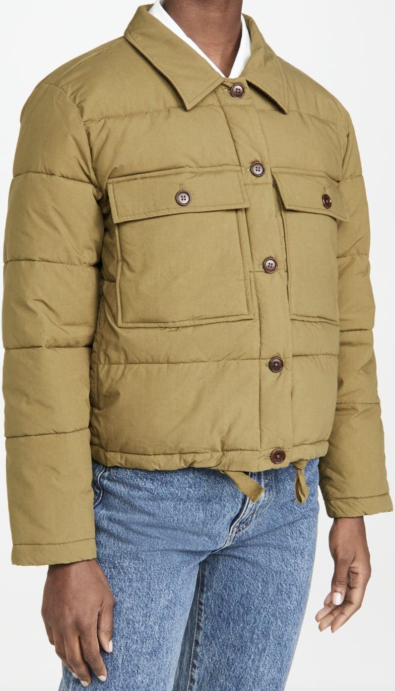 <p>You'll feel snug and stylish in this <span>Alex Mill Quilted Cropped Jacket </span> ($117, originally $195).</p>