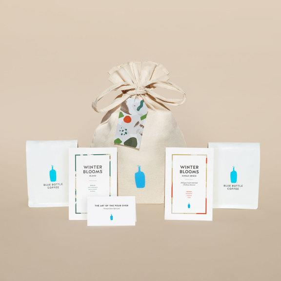 Winter Blooms Coffee Set and Virtual Brew Class Gift Card