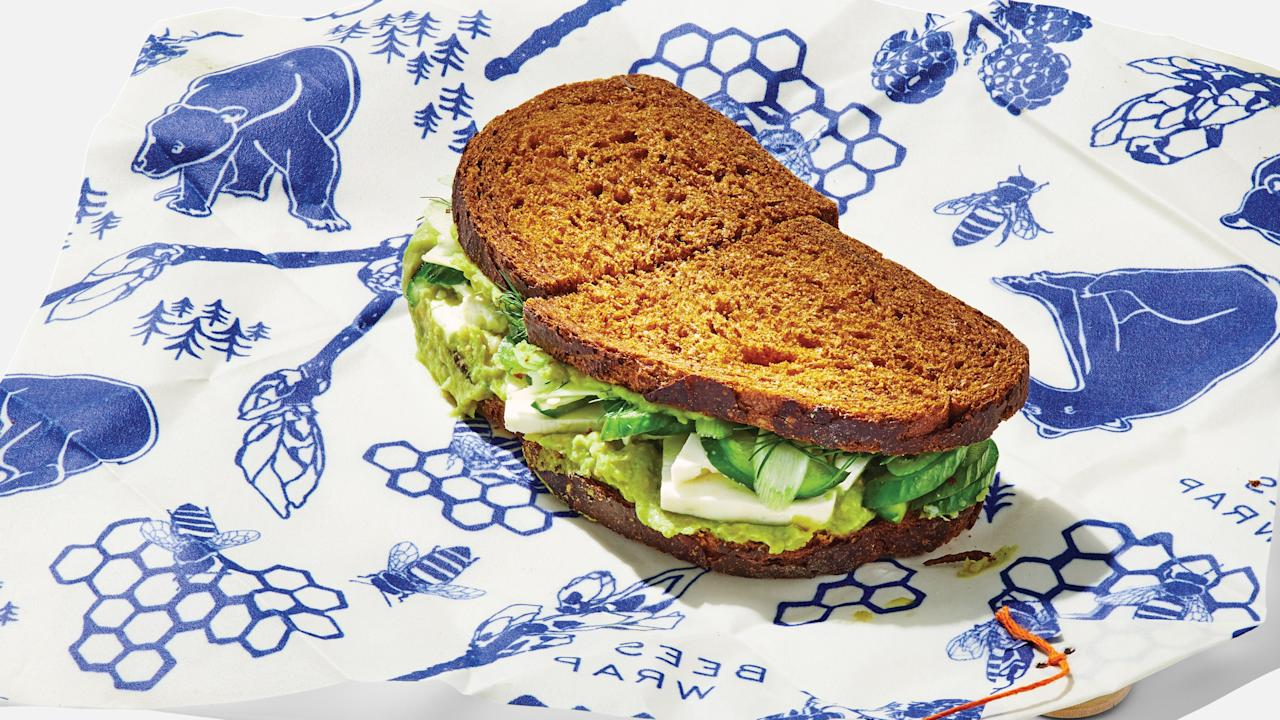 """Sassed-up canned beans become a creamy layer in this vegetarian sandwich, while thick-cut feta provides something to sink your teeth into. <a href=""""https://www.bonappetit.com/recipe/greens-and-beans-sandwiches?mbid=synd_yahoo_rss"""">See recipe.</a>"""