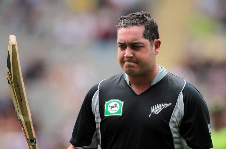 New Zealand's Jesse Ryder leaves the ground after being dismissed for 107 runs against Pakistan, at Eden Park in Auckland, on February 5, 2011. Ryder was showing signs of improvement on Friday and gave family the thumbs-up as police charged two men with assaulting the gifted batsman in a savage beating a day earlier