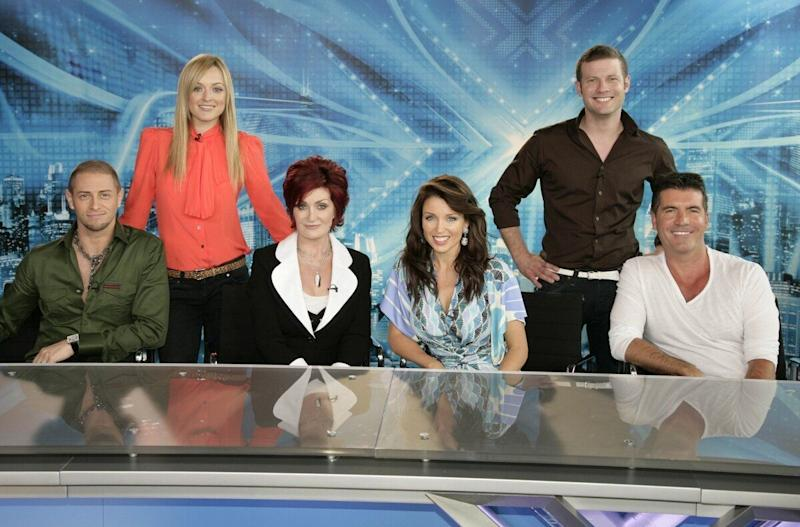 All change: Dannii Minogue joins Simon Cowell and Sharon Osbourne, with Brian Freidman replacing Louis Walsh. Dermot O'Leary also replaces Kate Thornton as the show's host.