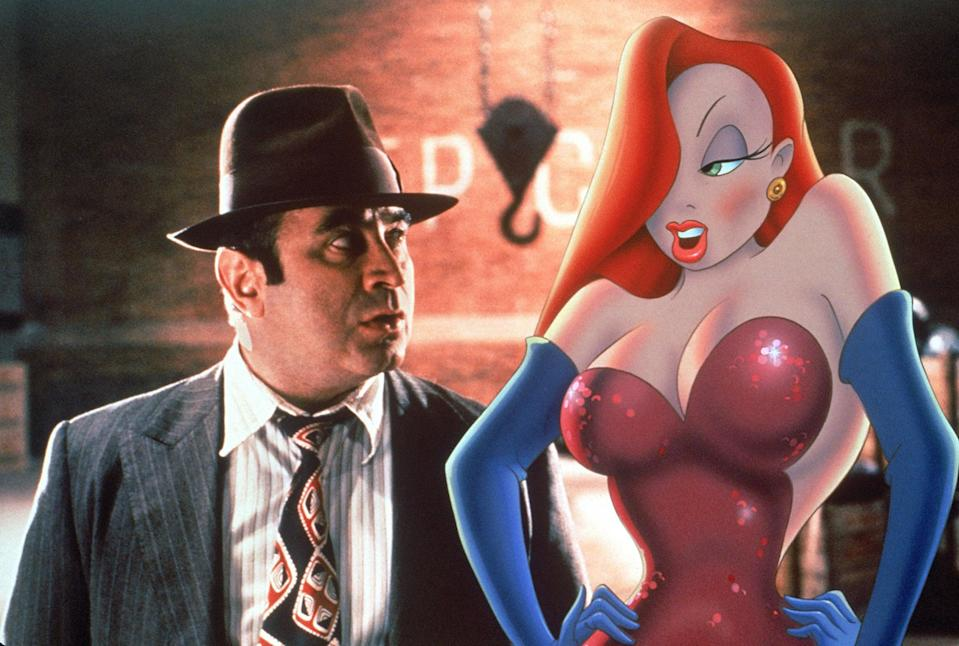 <p>Jessica Rabbit is one of the sexiest cartoons of all time, and it's easy to see why. Get the look with a big red wig, red lipstick, false lashes, and purple eyeshadow. </p>