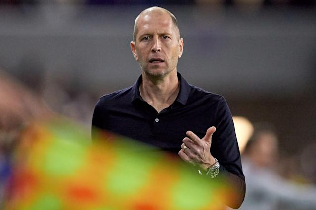 Gregg Berhalter is in for his first stiff test as United States coach. (Getty)