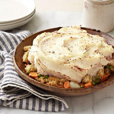 """<p>Who doesn't love shepherd's pie? This one is weeknight easy and won't weigh you down.</p><p><strong><a href=""""https://www.countryliving.com/food-drinks/recipes/a3008/shepherds-pie-recipe/"""" rel=""""nofollow noopener"""" target=""""_blank"""" data-ylk=""""slk:Get the recipe"""" class=""""link rapid-noclick-resp"""">Get the recipe</a>.</strong><strong><br></strong></p>"""