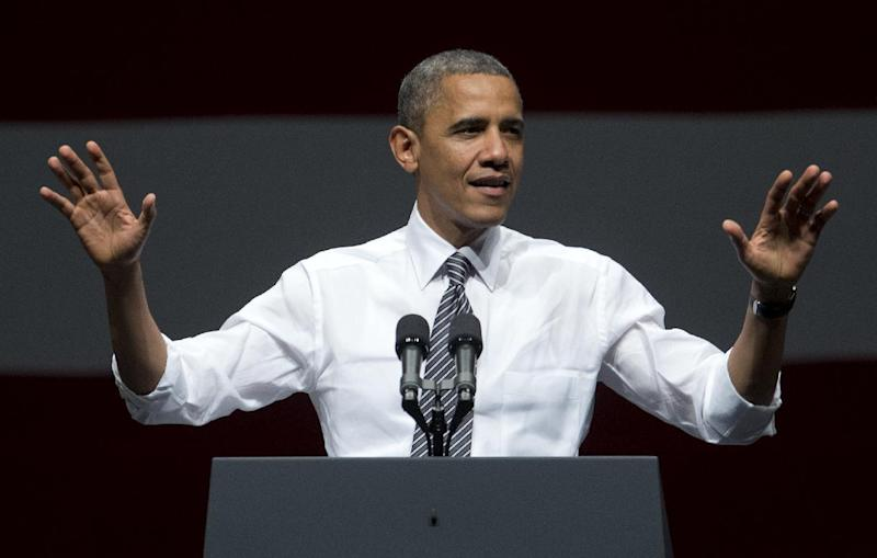 President Barack Obama speaks during a campaign event at the Bill Graham Civic Auditorium, Monday, Oct. 8, 2012, in San Francisco. (AP Photo/Carolyn Kaster)