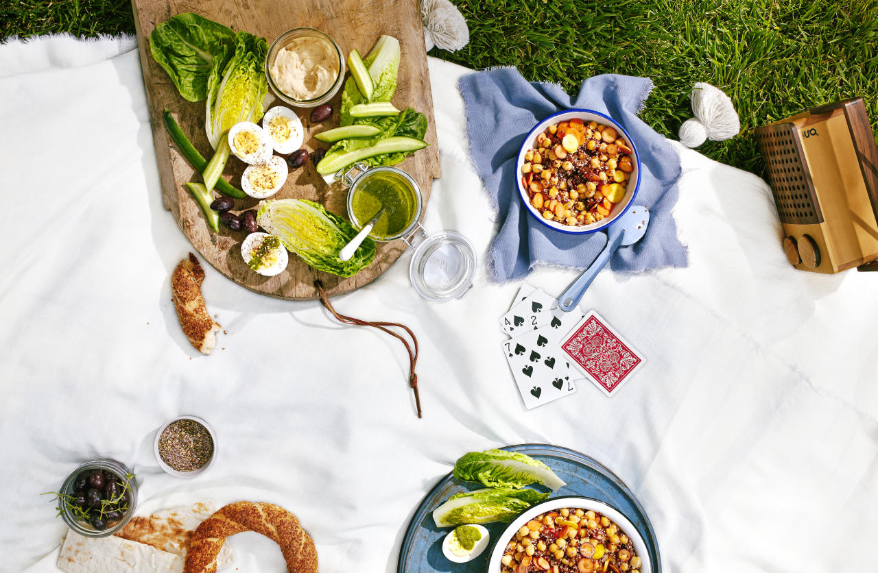 """<p>Zataar is a delicious herb-and-spice blend that's perfect for sprinkling atop a meze platter, while this green sauce—inspired by the flavors of falafel—acts as a delicious vinaigrette dipping sauce.</p>  <p><strong>Recipe: </strong><a rel=""""nofollow"""" href=""""http://www.sunset.com/recipe/picnic-meze"""">Picnic Meze</a></p>"""