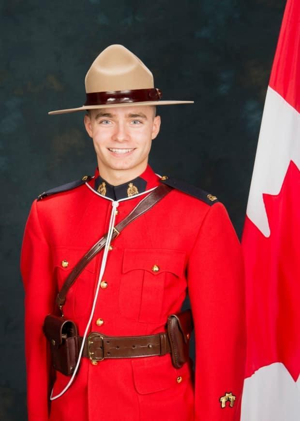 RCMP Const. Shelby Patton, who was killed on Saturday in Wolseley, Sask., was 'such a thoughtful person,' his grandmother told CBC News. (Saskatchewan RCMP - image credit)