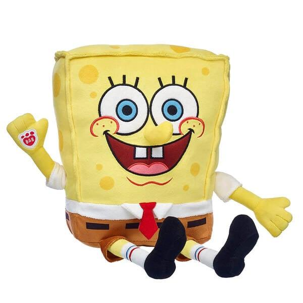 "<p>Who lives in a pineapple under the sea? This <a href=""https://www.popsugar.com/buy/SpongeBob-SquarePants-Plush-493659?p_name=SpongeBob%20SquarePants%20Plush&retailer=buildabear.com&pid=493659&price=29&evar1=moms%3Aus&evar9=46670493&evar98=https%3A%2F%2Fwww.popsugar.com%2Fphoto-gallery%2F46670493%2Fimage%2F46670509%2FSpongeBob-SquarePants-Plush&list1=spongebob%20squarepants%2Cbuild-a-bear%2Ckid%20shopping&prop13=api&pdata=1"" rel=""nofollow"" data-shoppable-link=""1"" target=""_blank"" class=""ga-track"" data-ga-category=""Related"" data-ga-label=""http://www.buildabear.com/spongebob-squarepants/027791.html?cgid=collections-shop-by-character-spongebob"" data-ga-action=""In-Line Links"">SpongeBob SquarePants Plush</a> ($29), obviously. Isn't he adorable?</p>"