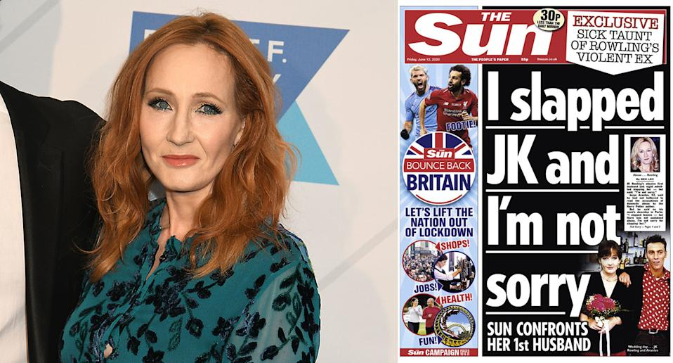 The Sun front page has been criticised as giving a voice to an alleged perpetrator of domestic violence. (PA)