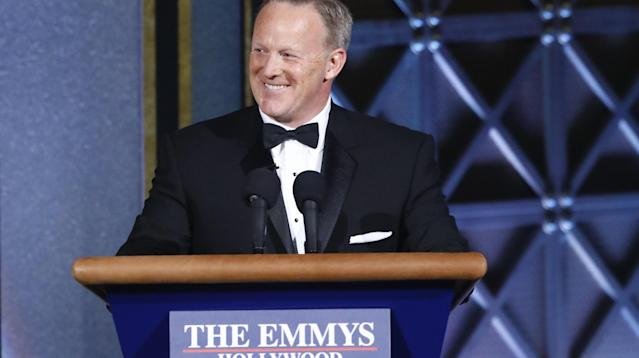 "Former White House press secretary Sean Spicer was apparently not radioactive enough for the one actor who spoke with him in the green room at the Emmys: ""Young Sheldon"" Iain Armitage."
