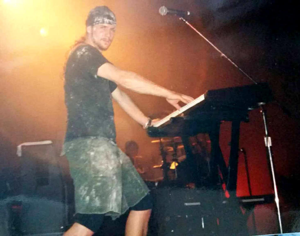 James Woolley was a touring keyboardist for Nine Inch Nails from 1991 to 1994. He died Aug. 14 from neck-related injuries, after falling off a ladder while retrieving music equipment in his studio. He was 49. (Photo: Facebook)