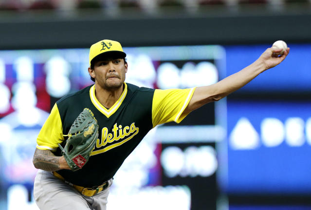 The A's have lost Sean Manaea and Brett Anderson in just a few days. (AP Photo)