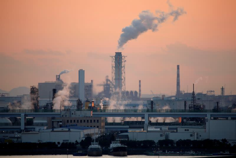 FILE PHOTO: Factories pictured near Tokyo