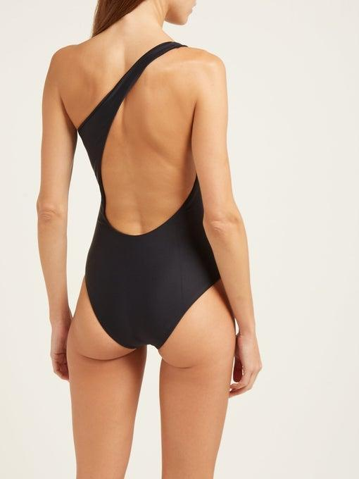 """<h3><h2>Jade Swim</h2></h3><br>Using a luxurious and sustainable Italian fabric, former fashion editor and stylist Brittany Kozerski creates sculptural-but-minimal bikinis and one-pieces for fans of subtlety and high design.<br><br><em>Shop <strong><a href=""""https://www.matchesfashion.com/us/womens/designers/jade-swim"""" rel=""""nofollow noopener"""" target=""""_blank"""" data-ylk=""""slk:Jade Swim"""" class=""""link rapid-noclick-resp"""">Jade Swim</a> </strong>at MatchesFashion</em><br><br><strong>Jade Swim</strong> Evolve one-shoulder swimsuit, $, available at <a href=""""https://go.skimresources.com/?id=30283X879131&url=https%3A%2F%2Fwww.matchesfashion.com%2Fus%2Fproducts%2F1247850"""" rel=""""nofollow noopener"""" target=""""_blank"""" data-ylk=""""slk:MatchesFashion.com"""" class=""""link rapid-noclick-resp"""">MatchesFashion.com</a>"""