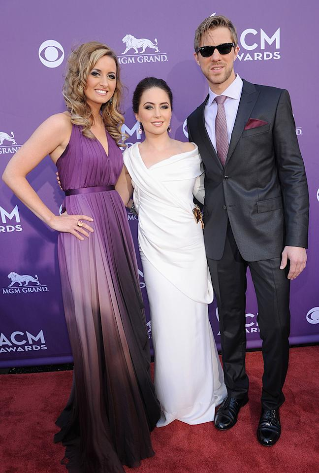 """<p class=""""MsoNormal"""">  </p>The trio of Edens Edge, which includes Cherrill Green, Hannah Blaylock, and Dean Berner, were dressed to impress at the soiree. Think they'll ever be up for the Vocal Group of the Year award?"""