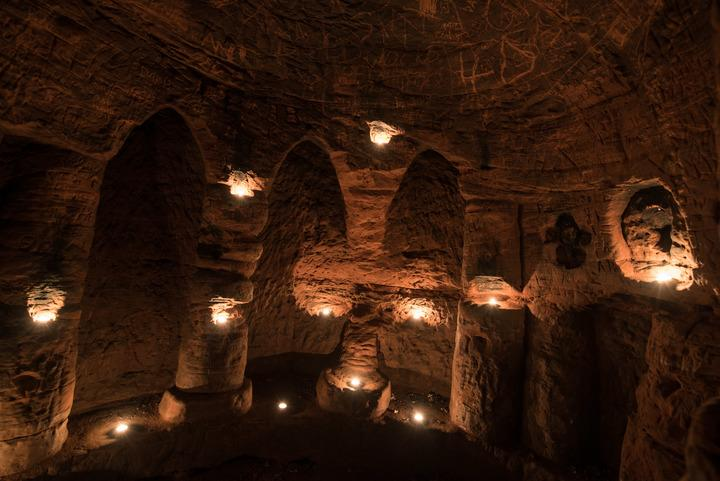 Caynton Caves are close to the town of Shifnal, Shropshire (Caters)