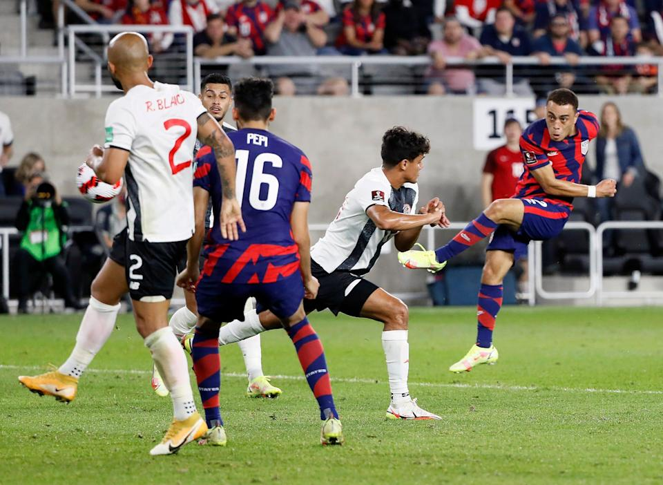 Sergiño Dest scored the USMNT's first goal in the World Cup qualifier against Costa Rica in Columbus.
