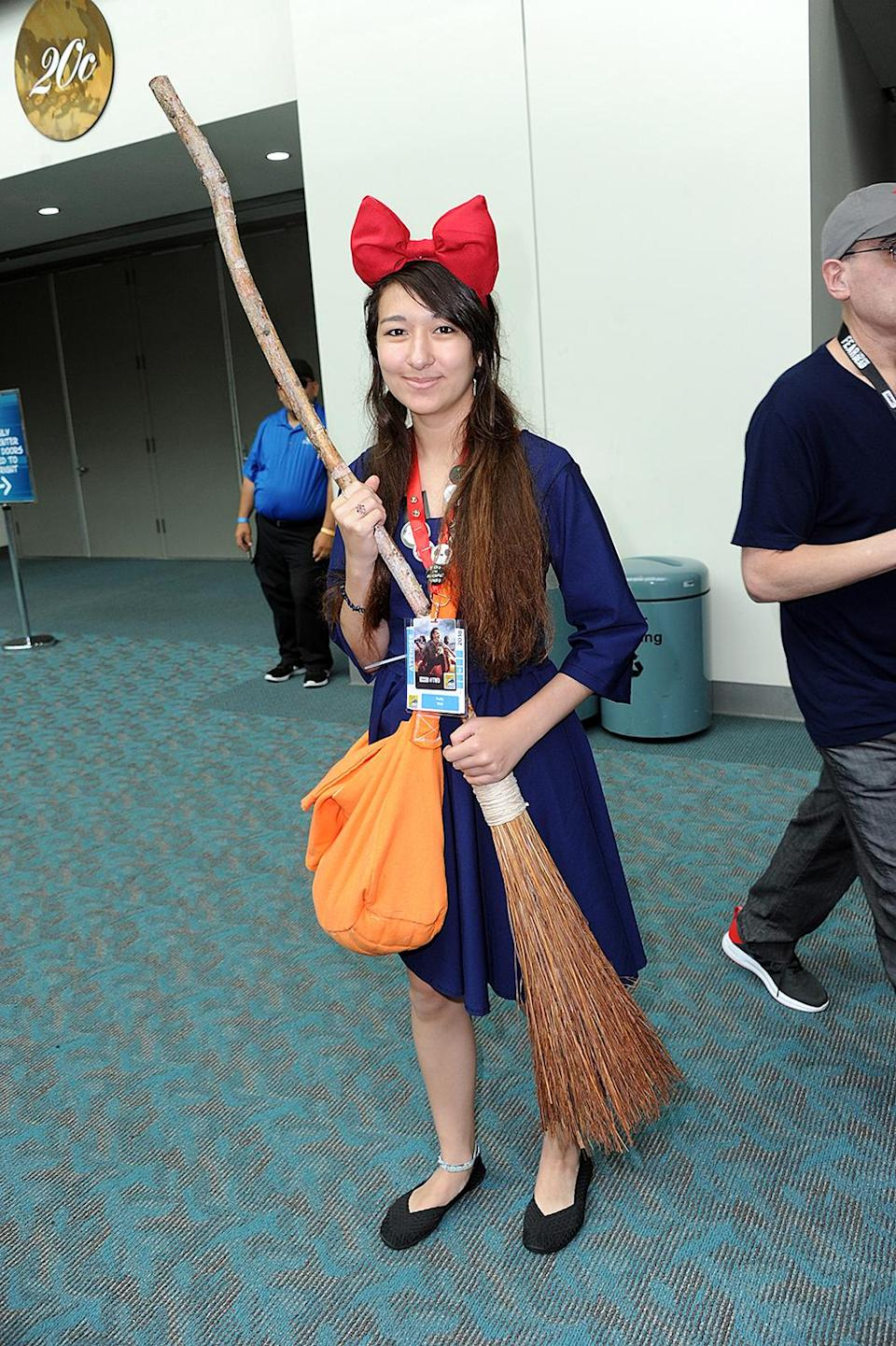<p>Cosplayer dressed as Kiki at Comic-Con International on July 20 in San Diego. (Photo: Albert L. Ortega/Getty Images) </p>