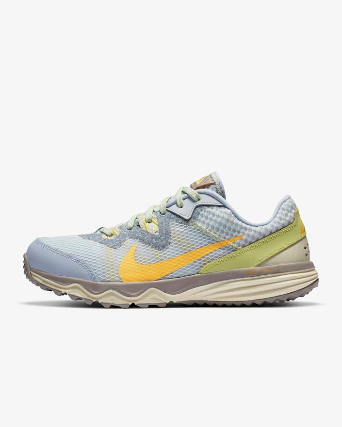 "<br> <br> <strong>Nike</strong> Juniper Trail Sneaker, $, available at <a href=""https://go.skimresources.com/?id=30283X879131&url=https%3A%2F%2Fwww.nike.com%2Ft%2Fjuniper-trail-womens-trail-shoe-wMLK7B%2FCW3809-002"" rel=""nofollow noopener"" target=""_blank"" data-ylk=""slk:Nike"" class=""link rapid-noclick-resp"">Nike</a>"