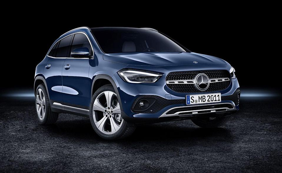 "<p>The <a href=""https://www.caranddriver.com/mercedes-benz/gla-class"" rel=""nofollow noopener"" target=""_blank"" data-ylk=""slk:Mercedes-Benz GLA-class"" class=""link rapid-noclick-resp"">Mercedes-Benz GLA-class</a> is all-new for 2021 and this small crossover sees <a href=""https://www.caranddriver.com/reviews/a33797289/2021-mercedes-benz-gla250-4matic-by-the-numbers/"" rel=""nofollow noopener"" target=""_blank"" data-ylk=""slk:changes in all of the right places"" class=""link rapid-noclick-resp"">changes in all of the right places</a>. A more comfortable ride, improved technology, and more crossover-like proportions boosts the GLA-class's standing in this competitive segment. A turbocharged 2.0-liter inline-four with 221 horsepower is the sole powertrain and all-wheel drive comes as an option. Although the new GLA250 feels quick, its zero to 60 mph time is over a <a href=""https://www.caranddriver.com/reviews/a15092285/2018-mercedes-benz-gla250-4matic-test-review/"" rel=""nofollow noopener"" target=""_blank"" data-ylk=""slk:half second slower than the 2020 model"" class=""link rapid-noclick-resp"">half second slower than the 2020 model</a> despite having more power.</p><ul><li>Engine: 221-hp turbocharged 2.0-liter inline-four </li><li>Cargo space: 15 cubic feet </li></ul><p><a href=""https://www.caranddriver.com/mercedes-benz/gla-class/specs"" rel=""nofollow noopener"" target=""_blank"" data-ylk=""slk:MORE GLA-CLASS SPECS"" class=""link rapid-noclick-resp"">MORE GLA-CLASS SPECS</a></p>"