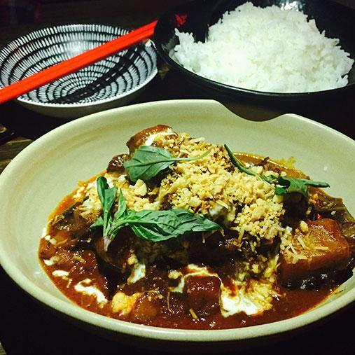 Warning: you'll need serious stomach space for this hearty Massaman curry. Photo: Be