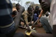 Lack of funds is a huge problem: The quarters lack latrines and food is meagre (AFP Photo/TONY KARUMBA)