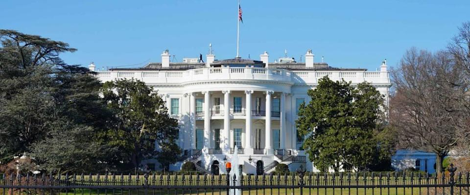 WASHINGTON, DC -21 FEB 2020- View of the White House in Washington DC, the executive residence of the President of the United States.