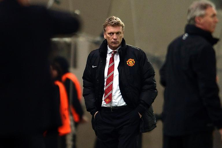 Manchester United manager David Moyes pictured during their UEFA Champions League round of 16 first-leg match against Olympiakos, at Karaiskaki Stadium in Piraeus near Athens, on February 25, 2014